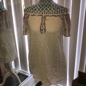 Cream Off the Shoulder Zara Dress